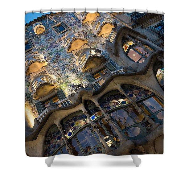 Fantastical Casa Batllo - Antoni Gaudi Barcelona Shower Curtain