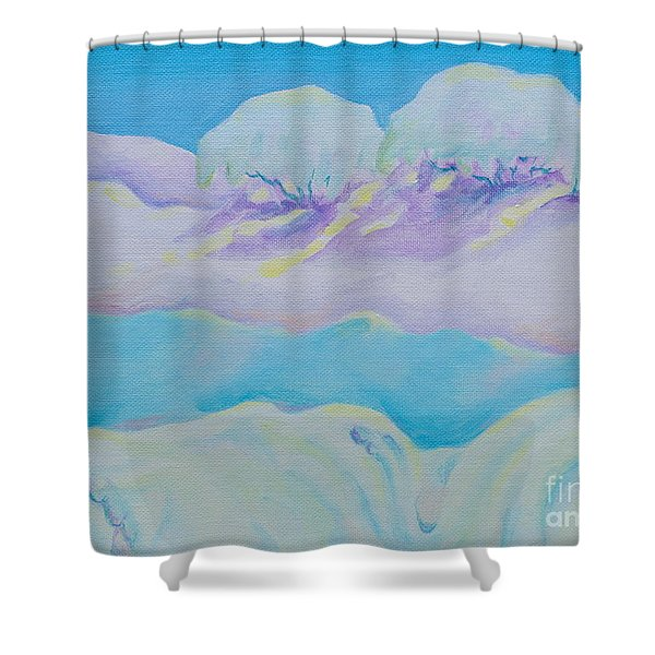 Fantasy Snowscape Shower Curtain