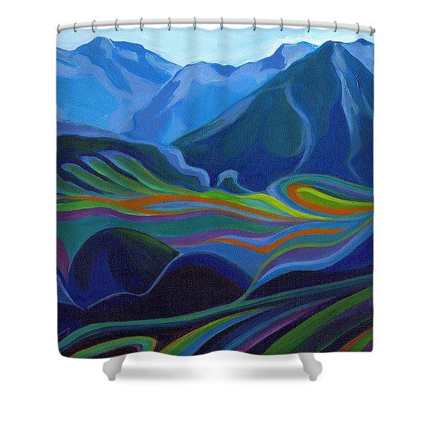 Faraway Mountains Shower Curtain