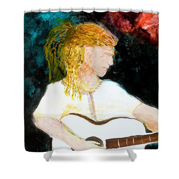 Shower Curtain featuring the painting Farmers Daughter by Keith Thue