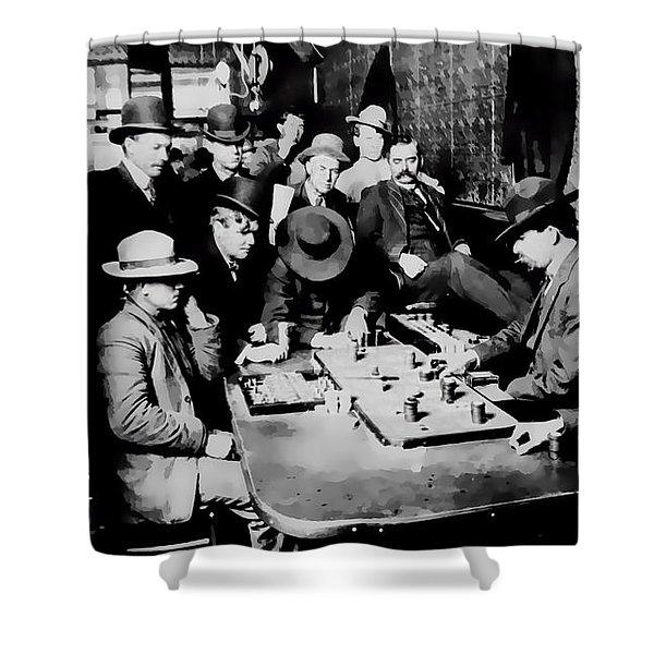 Faro Game Orient Saloon C. 1900 - Arizona Shower Curtain