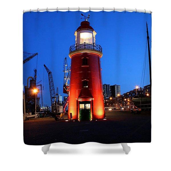 Faro Museo De Rotterdam Holland Shower Curtain