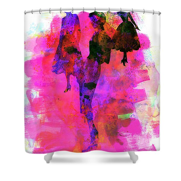 Fashion Models 1 Shower Curtain