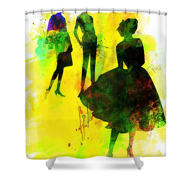 Fashion Models 2 Shower Curtain