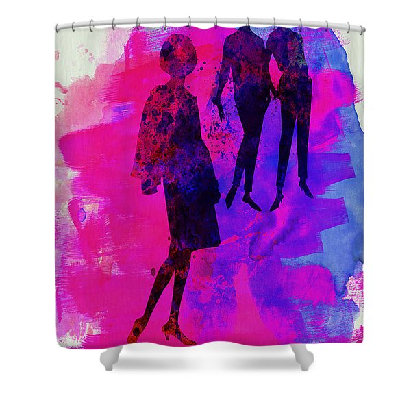 Fashion Models 4 Shower Curtain
