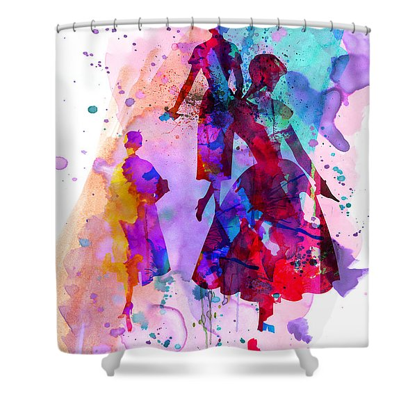 Fashion Models 6 Shower Curtain
