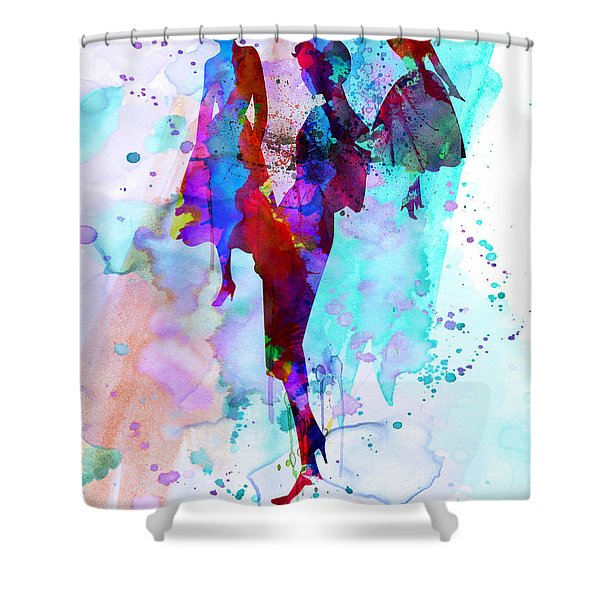 Fashion Models 7 Shower Curtain