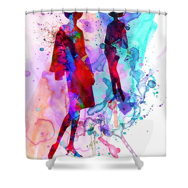 Fashion Models 8 Shower Curtain