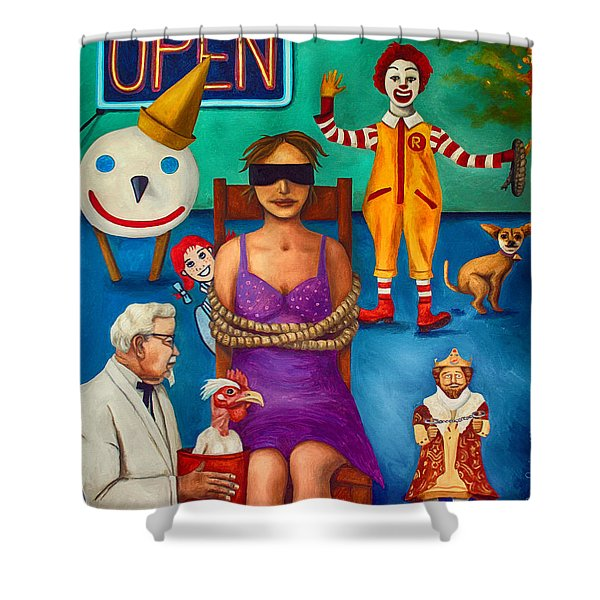 Fast Food Nightmare 3 Edit 2 Shower Curtain