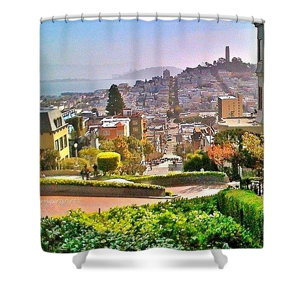 Favorite Places Lombard Street San Francisco California Shower Curtain