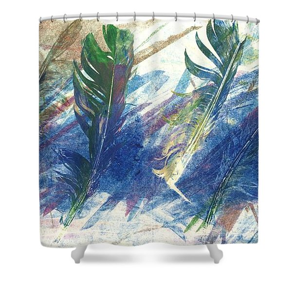 Feather Dance Shower Curtain