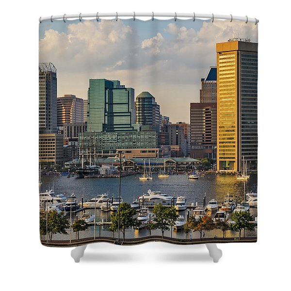 Federal Hill View To The Baltimore Skyline Shower Curtain