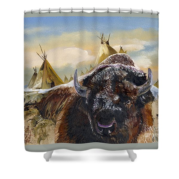 Feed The Fire Shower Curtain
