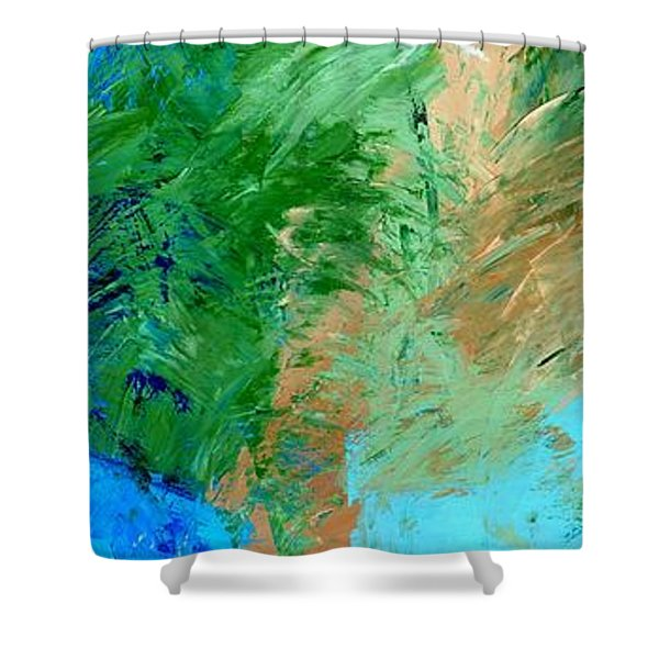 Feel The Tropical Breeze Shower Curtain