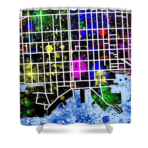 Fells Point Map Shower Curtain