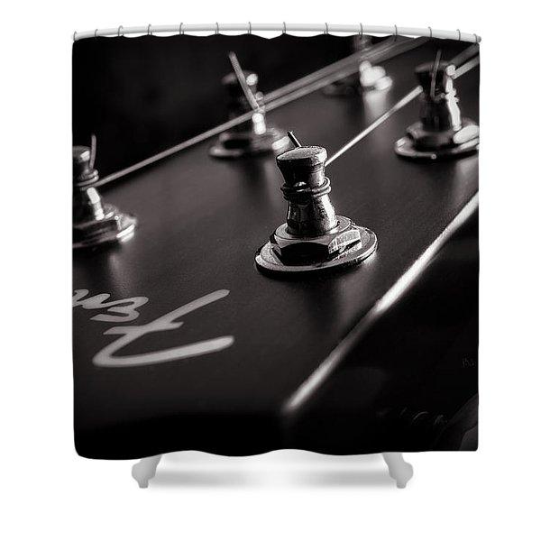 Fender Acoustic I Shower Curtain
