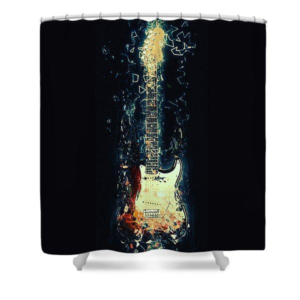 Fender Strat Shower Curtain