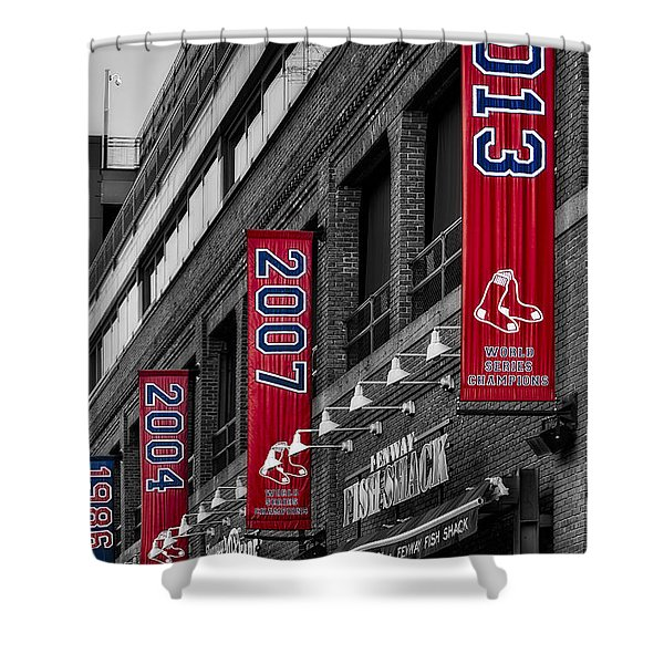 Fenway Boston Red Sox Champions Banners Shower Curtain
