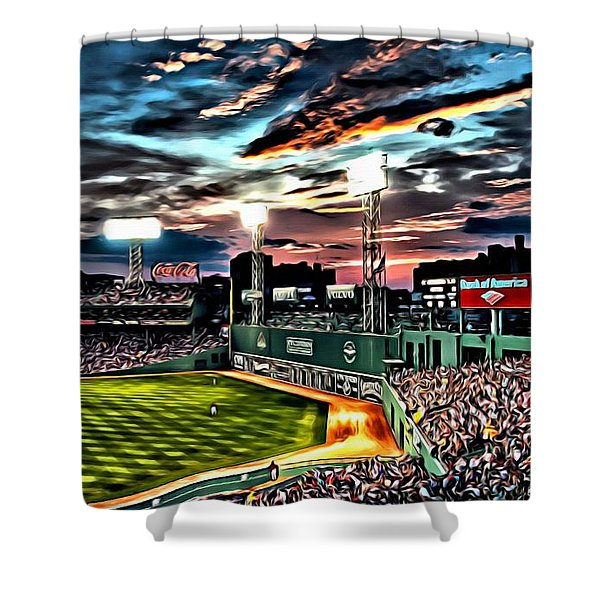 Fenway Park At Sunset Shower Curtain
