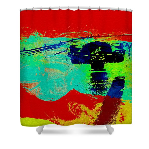 Ferrari 512 On Race Track 2 Shower Curtain