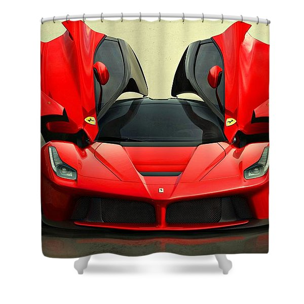 Ferrari Laferrari F 150 Supercar Shower Curtain