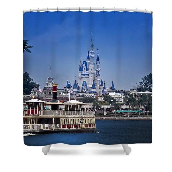 Ferry Boat Magic Kingdom Walt Disney World  Shower Curtain