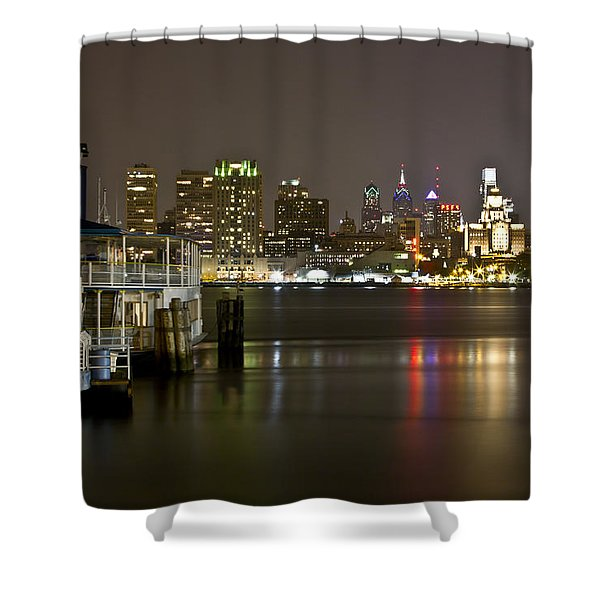 Ferry To The City Of Brotherly Love Shower Curtain