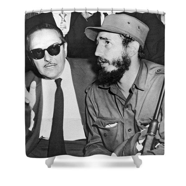 Fidel Castro And Urrutia Shower Curtain