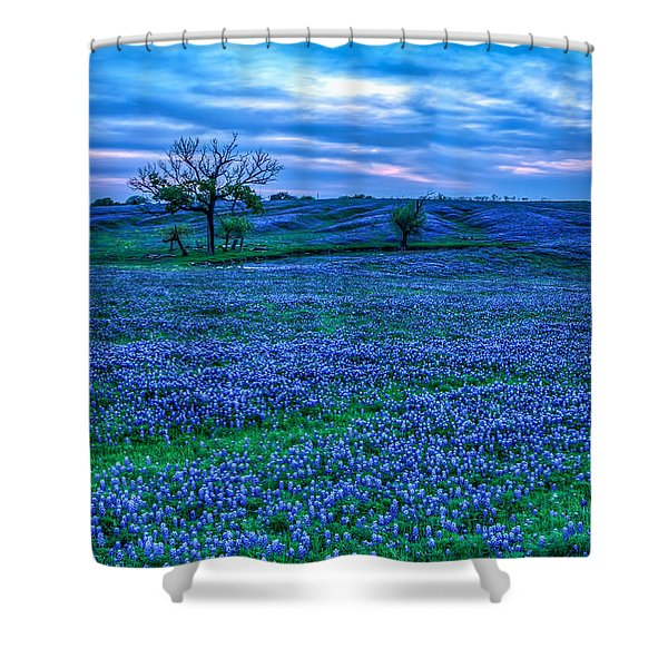 Field Of Blue Shower Curtain