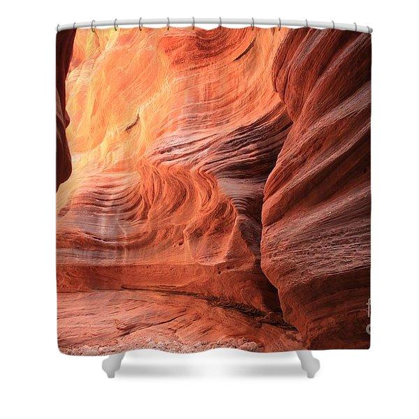 Fiery Bend Shower Curtain