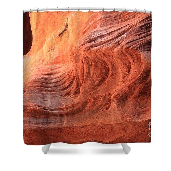 Fiery Buckskin Walls Shower Curtain