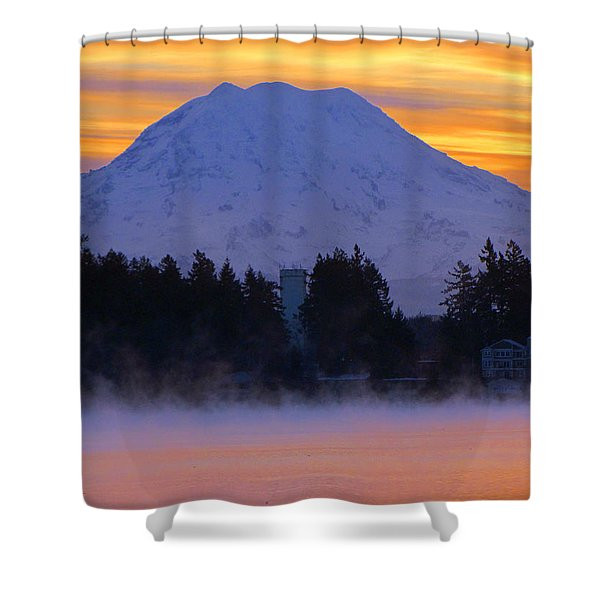 Fiery Dawn Shower Curtain