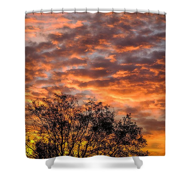 Fiery Sunrise Over County Clare Shower Curtain