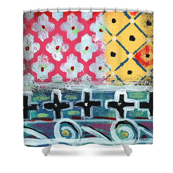 Fiesta 6- Colorful Pattern Painting Shower Curtain
