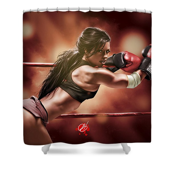Fight Night Shower Curtain