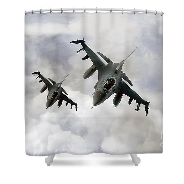 Fighting Falcons Shower Curtain