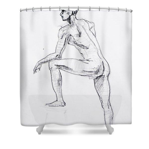 Figure Drawing Study II Shower Curtain