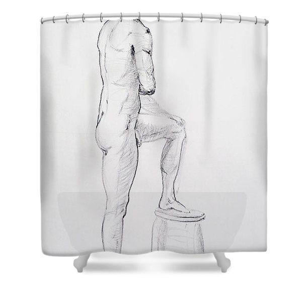 Figure Drawing Study Iv Shower Curtain