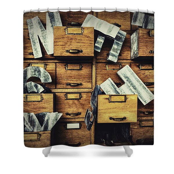 Filing System Shower Curtain