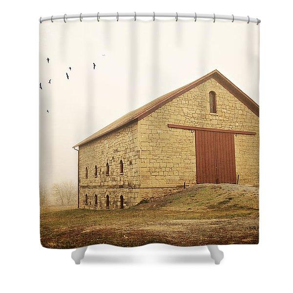 Filley Stone Barn 1 Shower Curtain