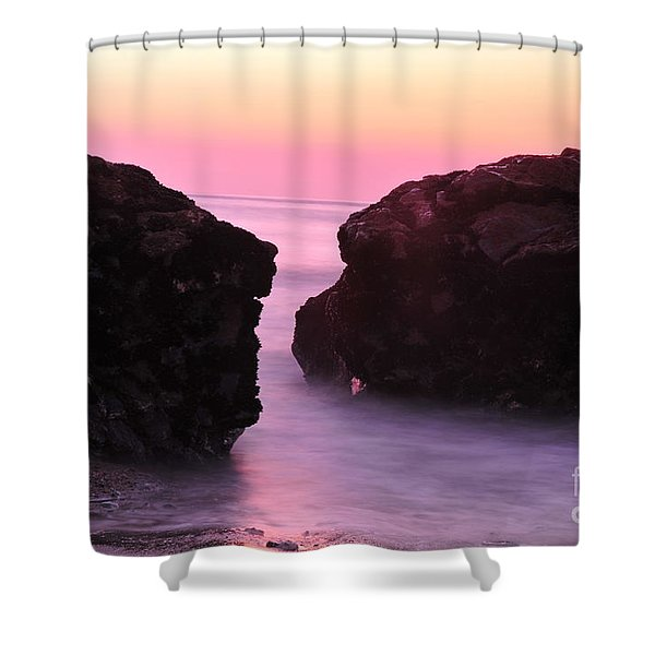 Fine Art Water And Rocks Shower Curtain