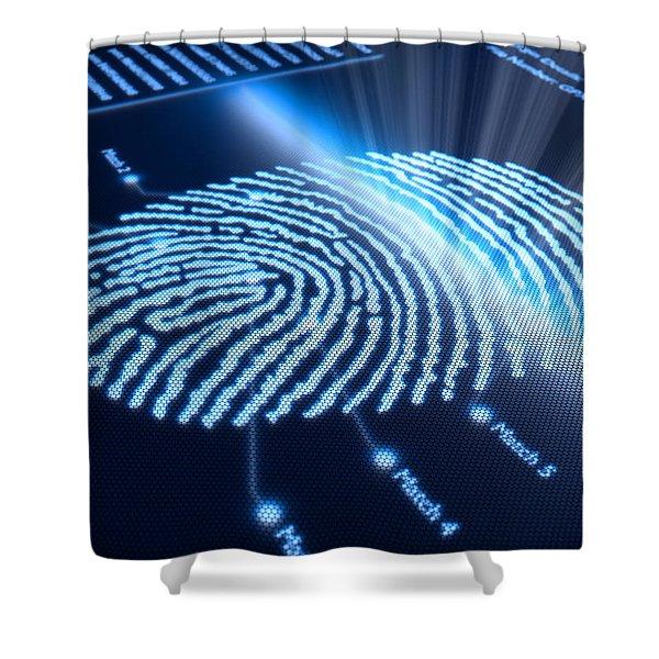 Modern Scanning Technology Shower Curtain