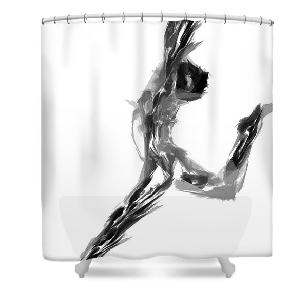 Finish Line Shower Curtain