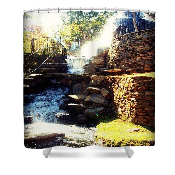 Finlay Park Fountain Shower Curtain