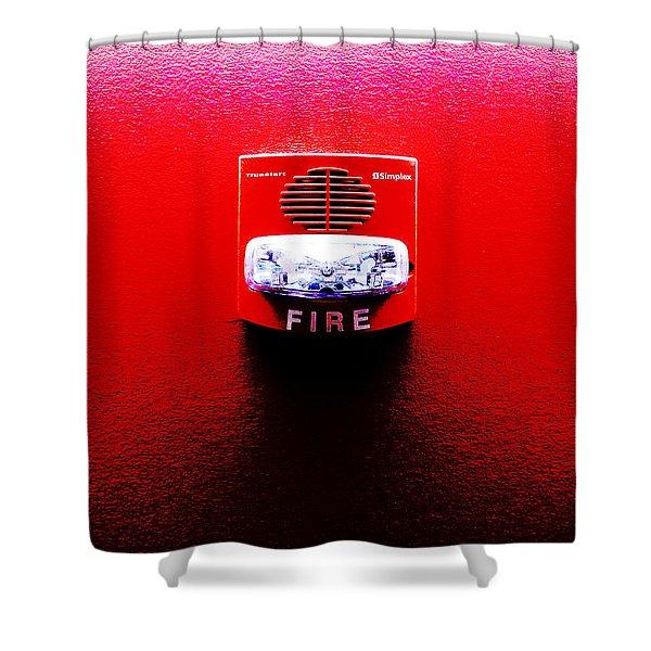 Fire Alarm Strobe Shower Curtain