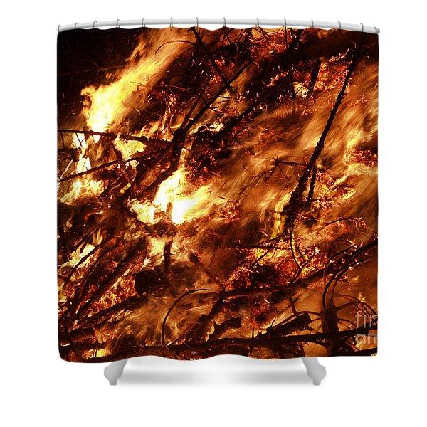 Fire Blaze Shower Curtain