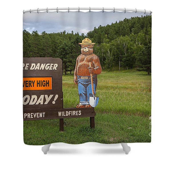 Shower Curtain featuring the photograph Fire Danger Sign  by Bryan Mullennix