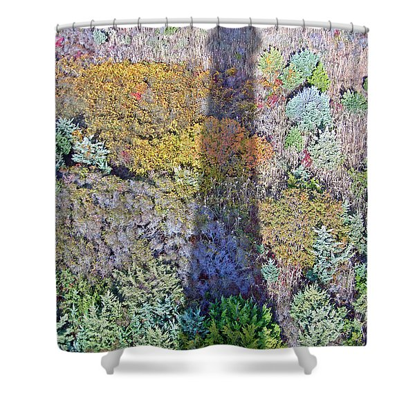 Fire Island Shadow Shower Curtain