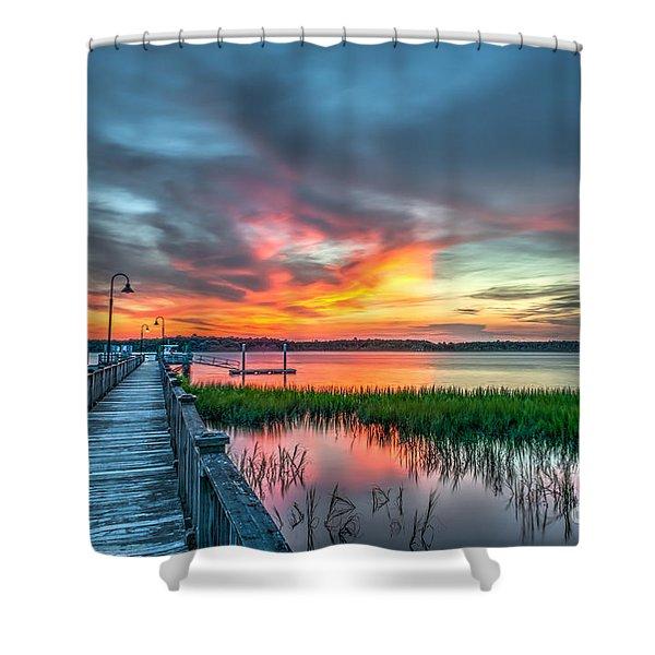 Fire Light Shower Curtain