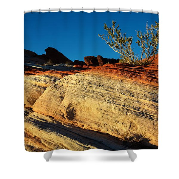 Fire Lines Shower Curtain